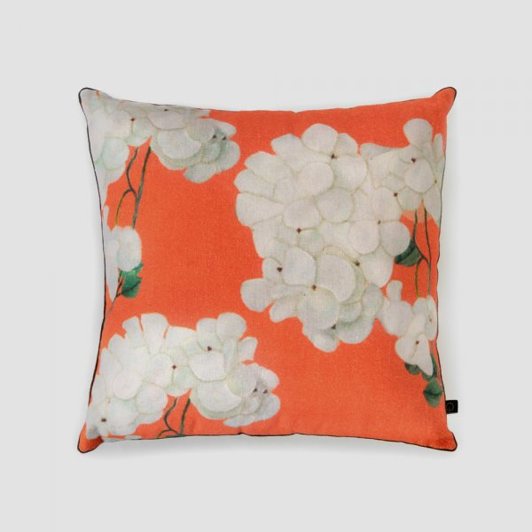 Tropical Hydrangeas Cushion Cover